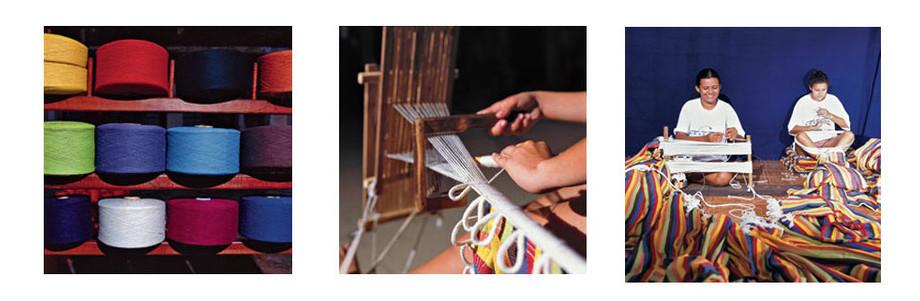 fabrication artisanale du hamac Palacio