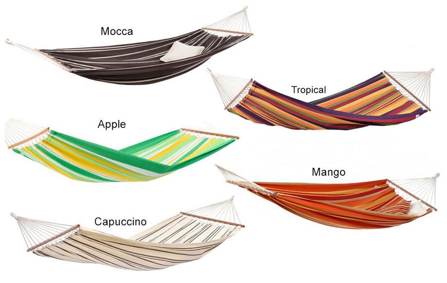coloris disponibles du hamac Brasilia en situation