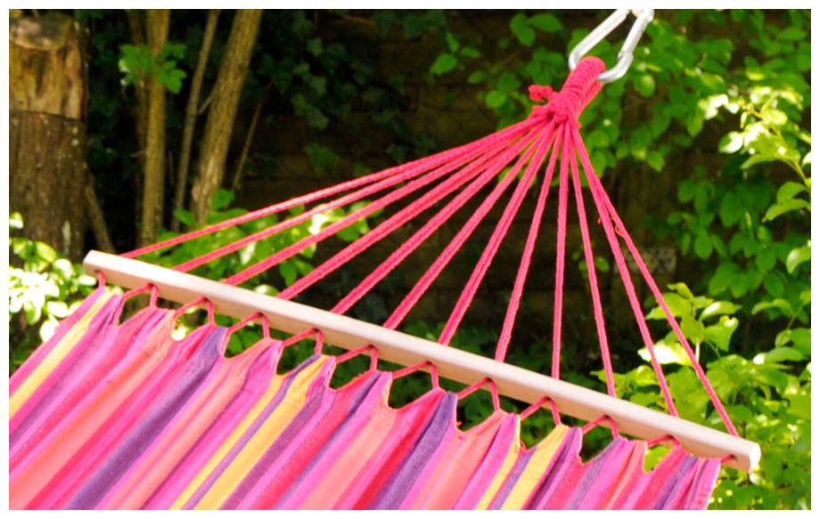 détail baguette et cordage du hamac brésilien Tonga