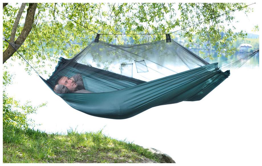hamac moskito traveller avec moustiquaire en situation