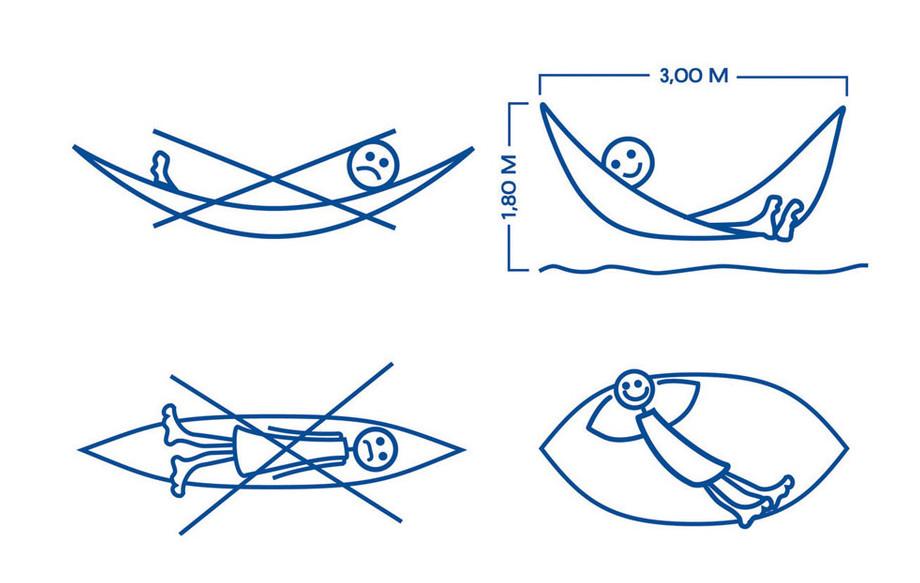 logo d'utilisation d'un hamac brésilien