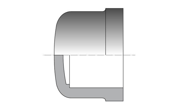 PVC pression - bouchon femelle à coller - schema
