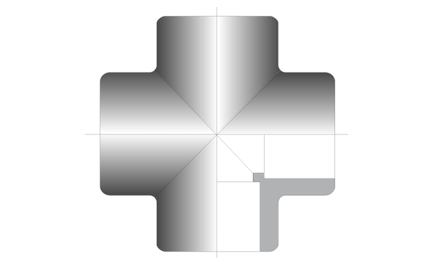 raccord hydraulique croix schema