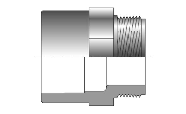 PVC pression - embout mixte 3 pièces - schema