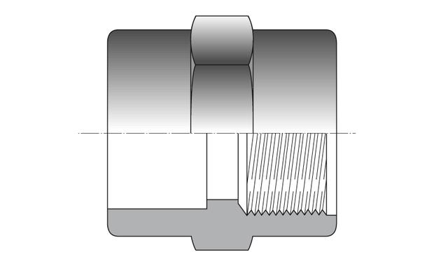 manchon mixte PVC femelle - schema