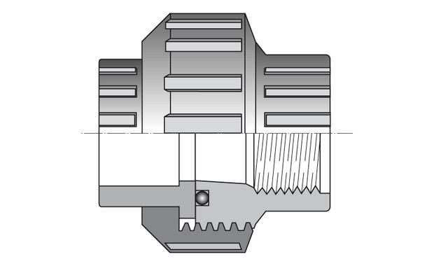 raccord PVC PN16 - femelle mixte