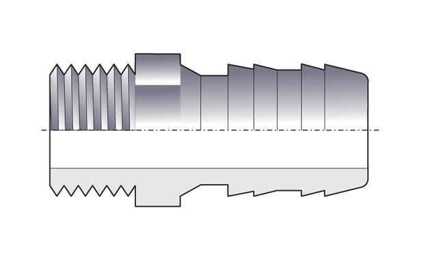 raccord PVC cannelé schema