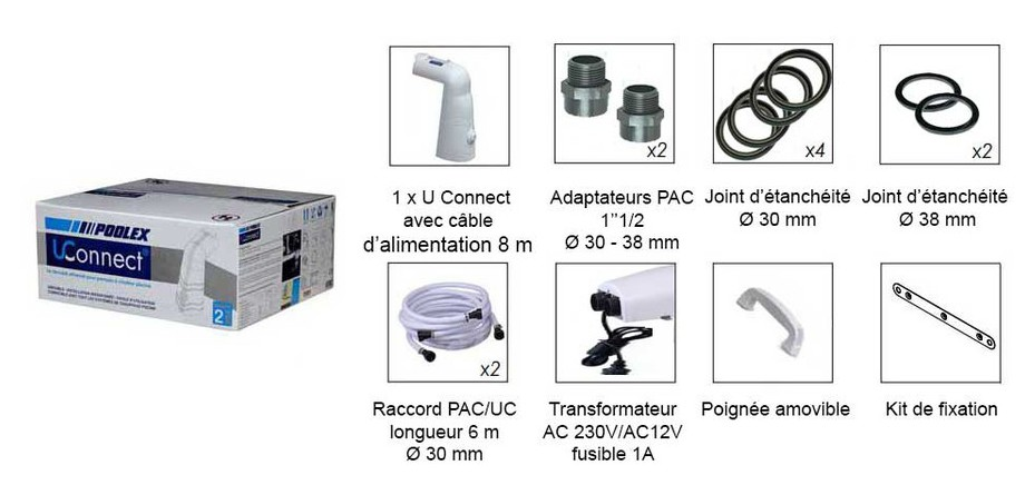 kit U Connect Pac Pool Universel en situation