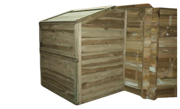 Abri ferm pour platine de filtration piscine center net for Local technique en bois pour piscine