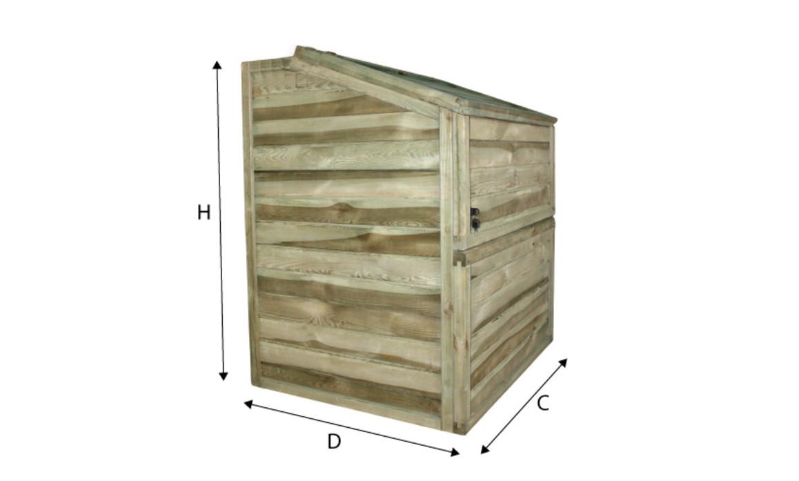 dimensions du coffre de filtration des piscines bois