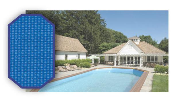 Woodfirst original la b che solaire piscine bois sur for Bache ete piscine octogonale