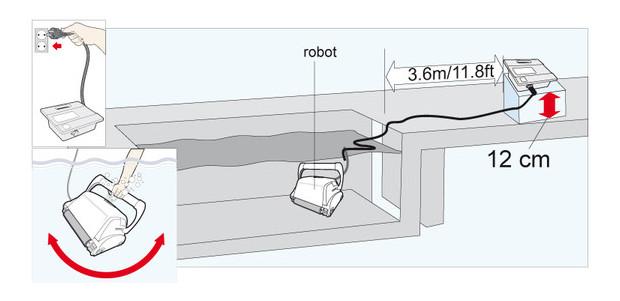 ultra 500  robot piscine - schema 1