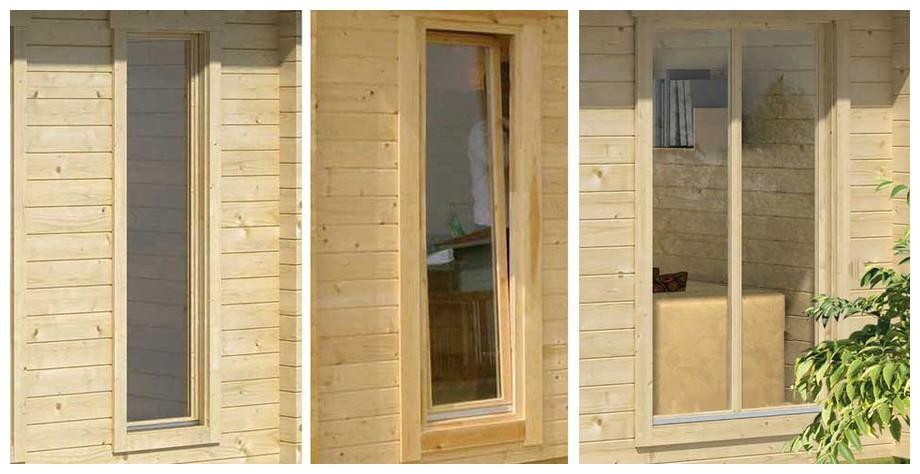 détail de la fenêtre de l'abri de jardin Brighton A Lasita Maja en situation