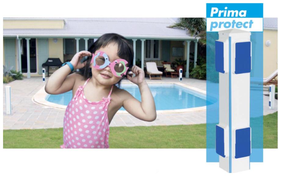 Kit alarme piscine périmétrique Prima Protect 4 segments sans fil