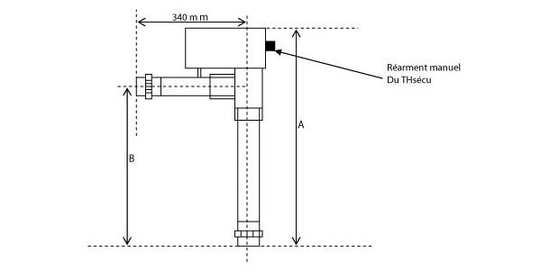 bleu titane rti-c rechauffeur electrique
