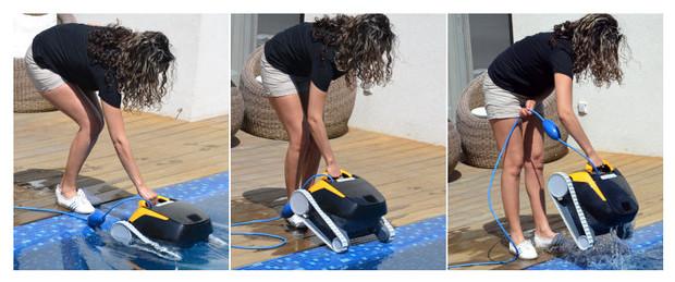 dolphin E20 - robot de piscine manipulation facile