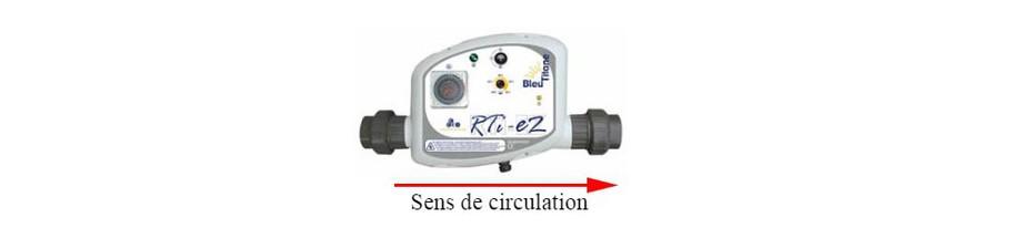 sens de circulation du réchauffeur piscine RTI-EZ