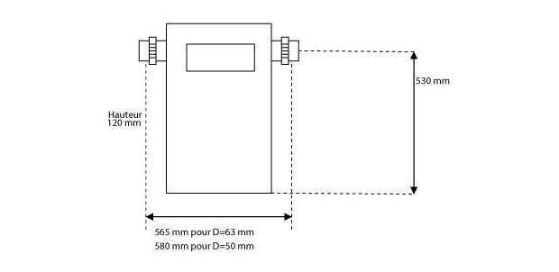 rechauffeur electrique bleu titane RTI-U - installation