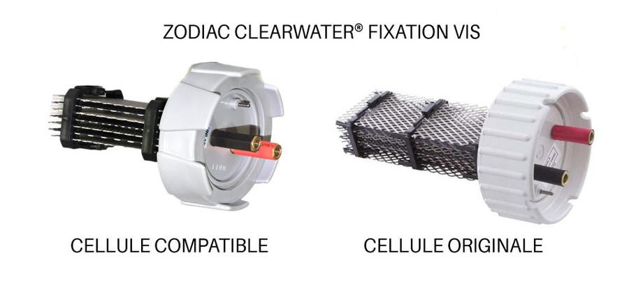 Cellule électrolyse compatible avec les appareils Zodiac - clearwater vis