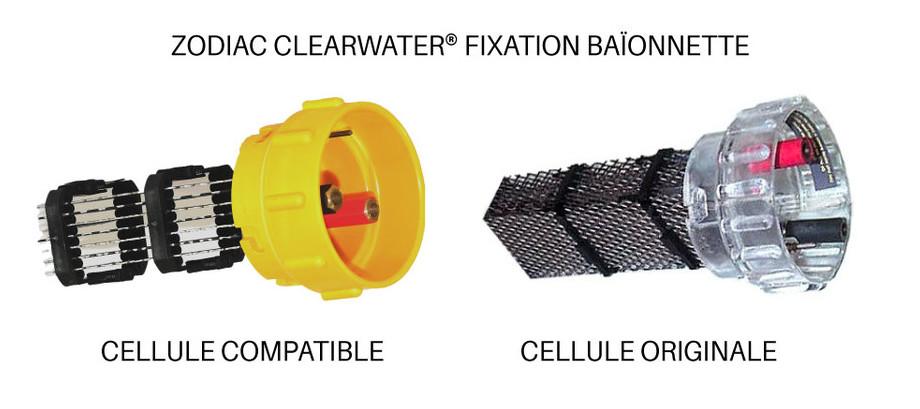 Cellule électrolyse compatible avec les appareils Zodiac - clearwater baionnnette