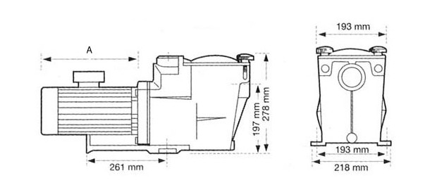 pompe piscine hayward dimensions