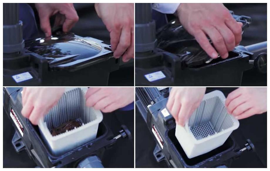 détail du panier préfiltre de la pompe de filtration Superpum by Hayward