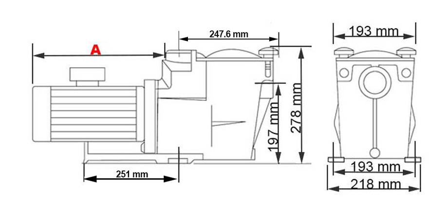 dimensions de la pompe de filtration pour piscine superpump hayward