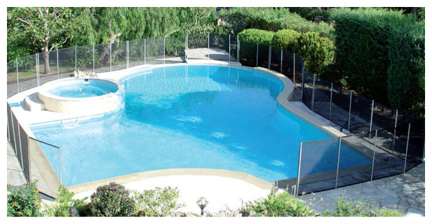 barriere démontable piscine beethoven filet souple