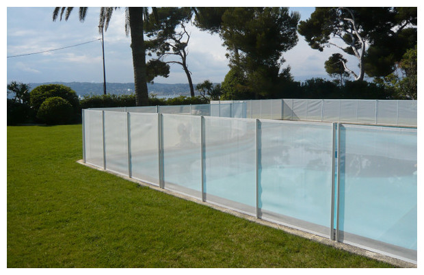 barriere de protection pour piscine beethoven prestige filet blanc