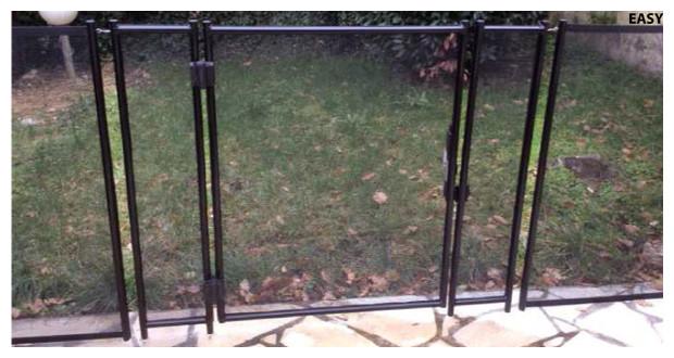 portillon - barriere de securite beethoven - fixation perçage