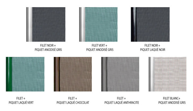 barriere beethoven filet rigide - options couleurs