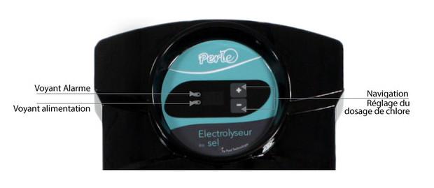perle electrolyseur piscine - detail ecran