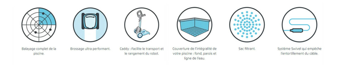 pictogramme du robot de piscine dolphin 2001 vintage