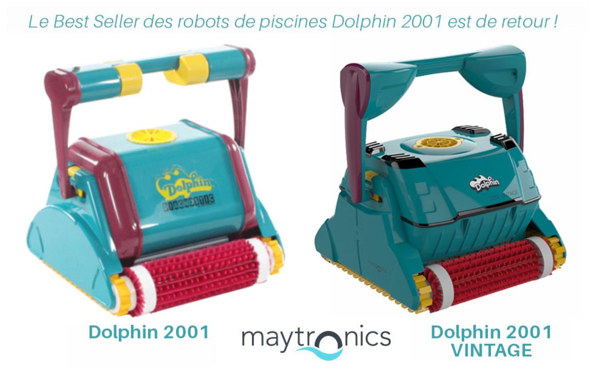 robot nettoyeur de piscine dolphin 2001 vintage brosse combinée