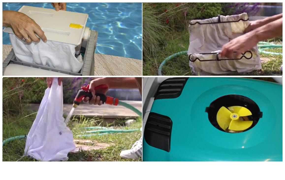entretien du filtre du robot de piscine Dolphin 2001 vintage