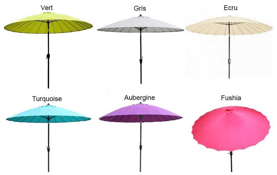 parasol droit mât diamètre 270 cm coloris en situation