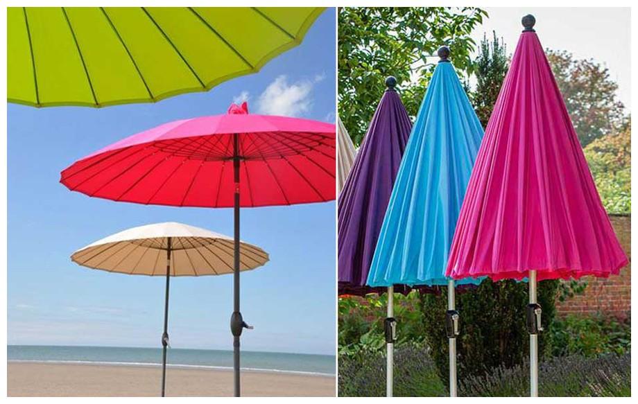 parasol à mât droit diamètre 270 cm Liam en situation