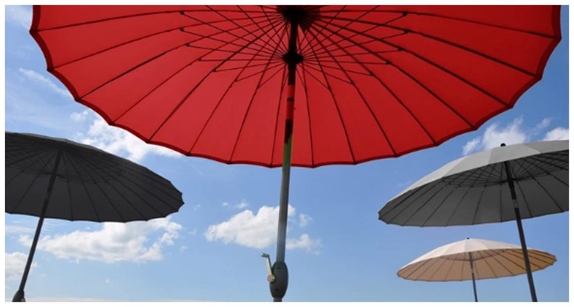 parasol droit rond shangai diamètre 270 en situation