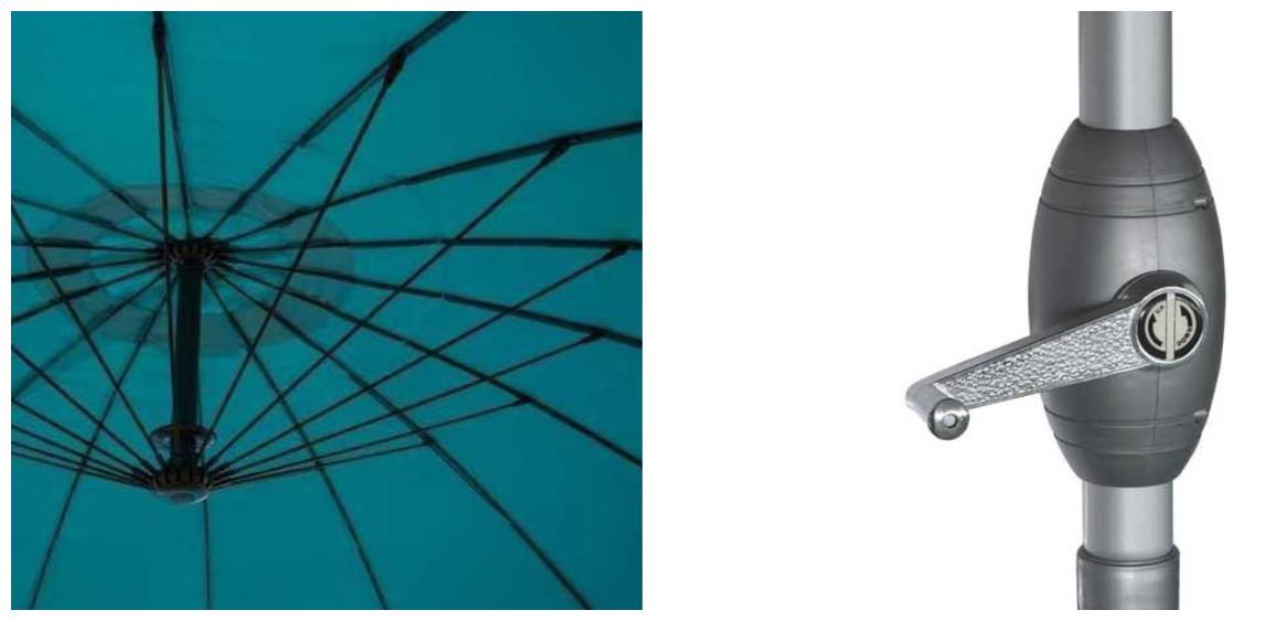 détails du parasol à mât droit shanghai