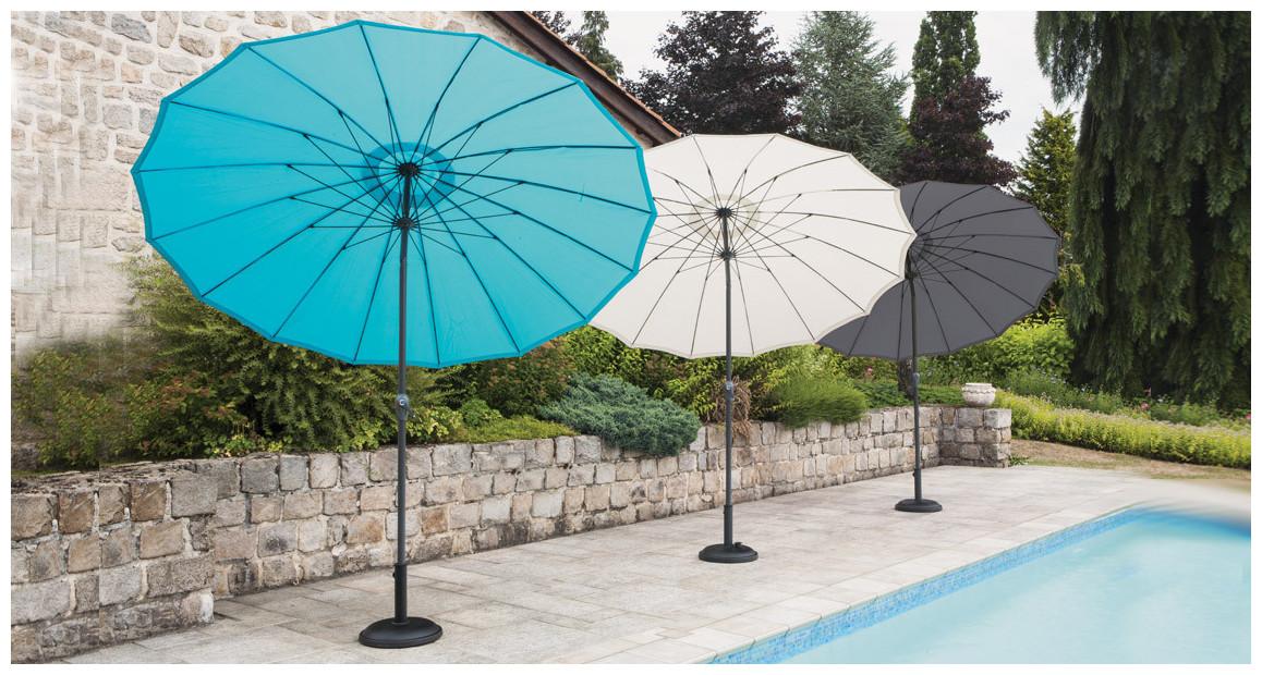 parasol à mât droit shanghai en situation