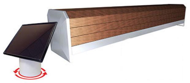 banc bois solaire afc