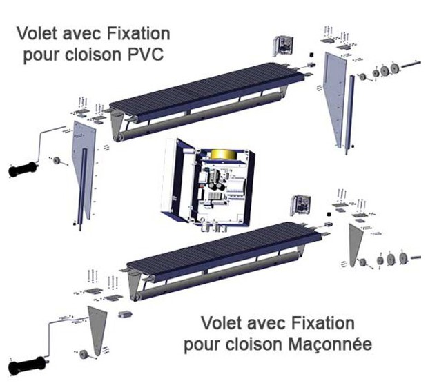 Volet piscine immerge coffre sec o 39 clair piscine center net - Fabriquer coffre filtration piscine ...