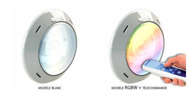 projecteur LED pour piscine bois - blanc ou RGBW