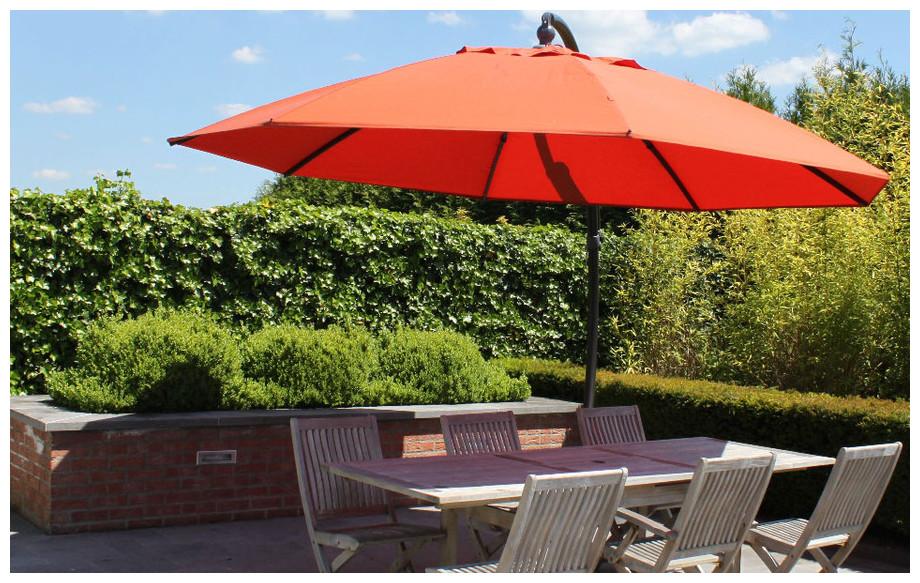 Parasol rond carr rectangulaire en toile polyester for Parasol impermeable terrasse