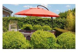 parasol rond carr rectangulaire en toile polyester jardin. Black Bedroom Furniture Sets. Home Design Ideas