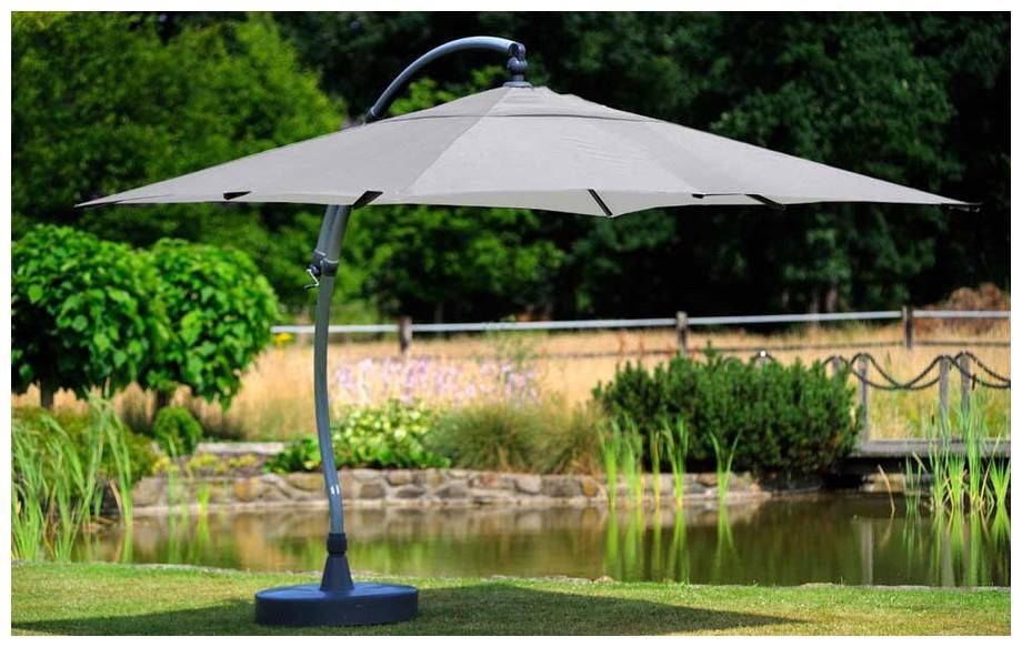 Parasol déporté carré 320 Easy Sun GRIS