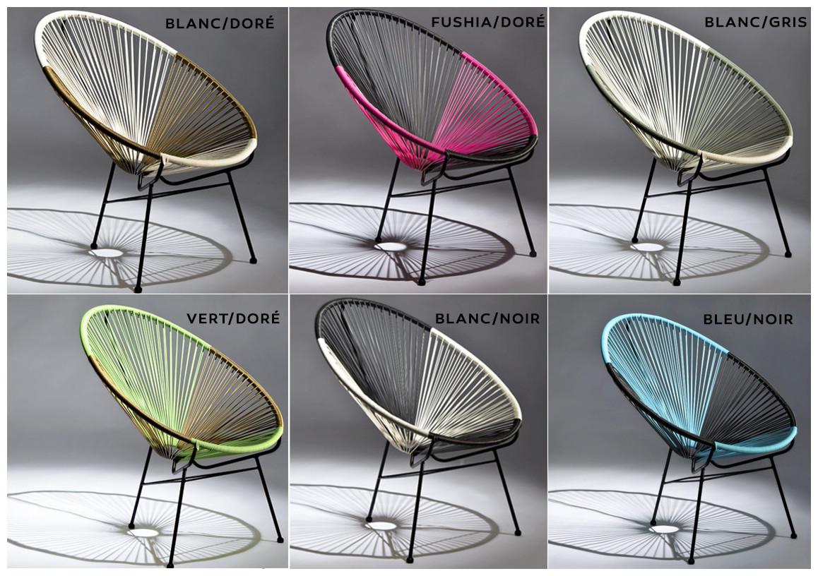 coloris du fauteuil extérieur ovaly