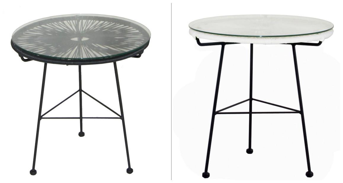table assortie au fauteuil extérieur ovaly