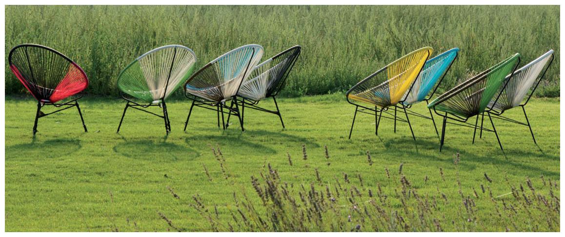 panaché des couleurs des fauteuils ovaly