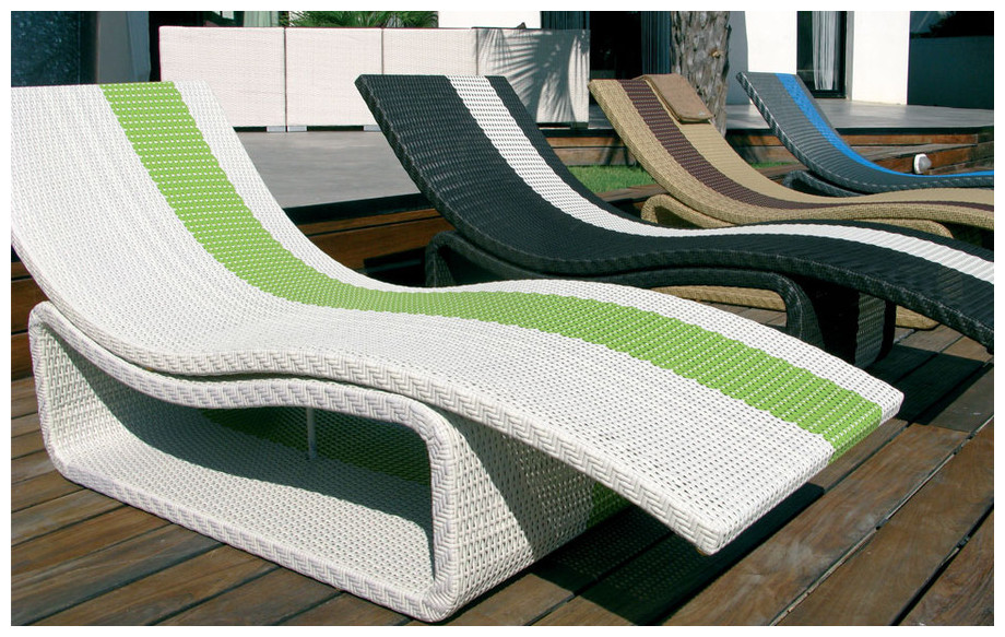 Transat piscine design simple transat sol chocolat et for Transat relax basculant
